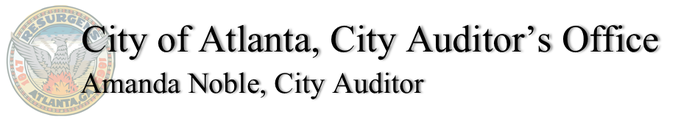 City of Atlanta, City Auditor's Office